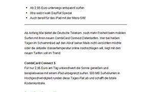 Gerücht: iPad-Datentarife der Deutschen Telekom