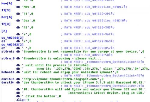 Quellcode-Ausschnitt von thunderst0rm