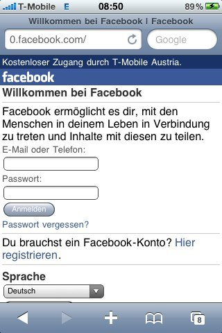 "0.facebook.com: ""Kostenlose"" mobile Facebook Version"