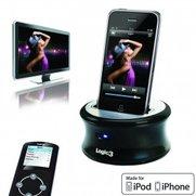 iPhone-Dock mit LCD-Fernbedienung bringt Videos auf Fernseher
