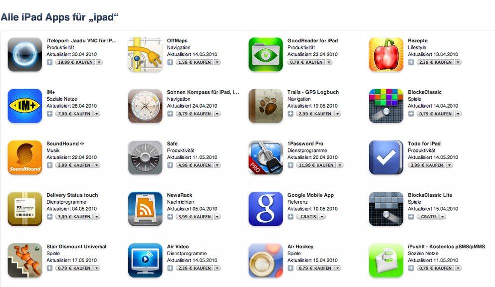 Zugriff mit iPad auf deutschen iTunes-Store
