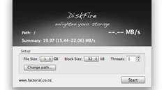 Festplattentest DiskFire misst Datenströme
