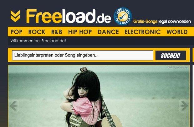 Freeload.de: Musik gratis herunterladen statt kaufen