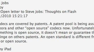 Steve Jobs zur Wahl von H.264 als Videocodec