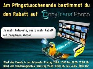 CopyTrans Photo: ReTweets bestimmen Rabatt