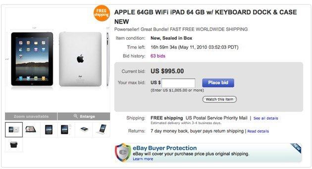 eBay: Statistiken über die US-iPad Exporte