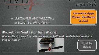 Zubehör für das iPhone - Ventilatoren, Laser, Termometer, Infrarotsender, ...