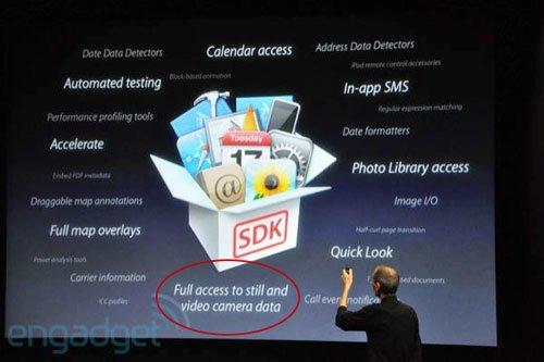iPhone OS 4: Vorbereitung auf 720p HD Videoaufzeichnung