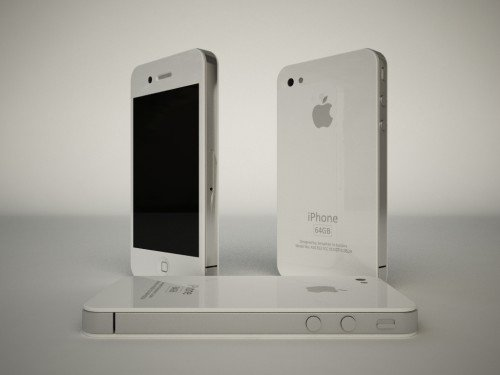 iPhone 4G: Mockups in Weiß