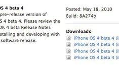 Veröffentlicht: iPhone OS 4 Beta 4