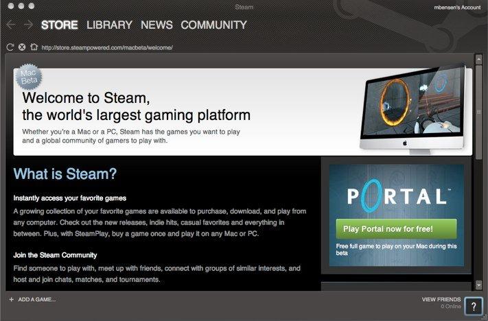 Steam für Mac verfügbar