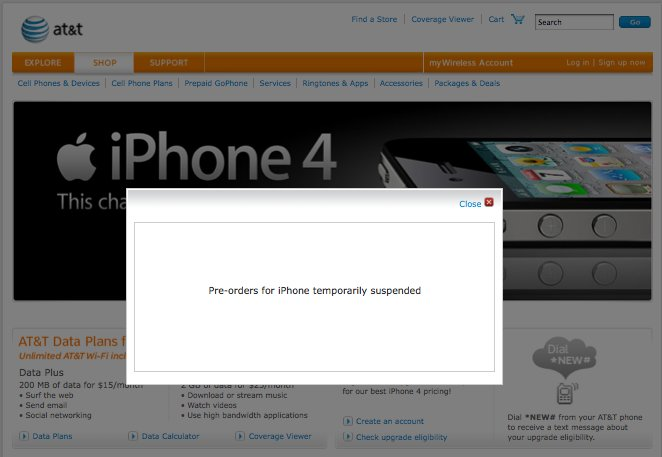 Massive Serverprobleme: AT&amp&#x3B;T stoppt iPhone 4 Vorverkauf
