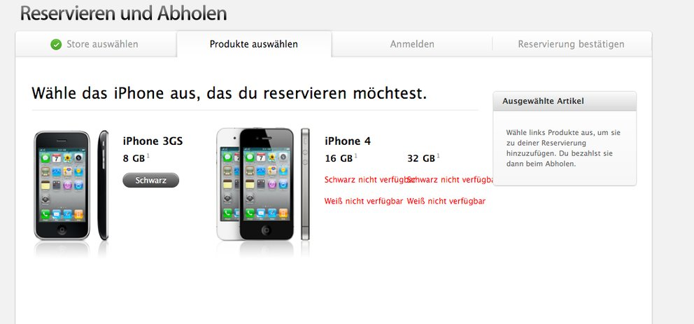 Neues iPhone im Apple-Store ausverkauft (Update: Telekom-Statement)