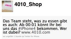 Telekom-Shop 4010 verkauft das iPhone 4 ab Mitternacht