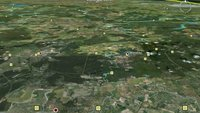 Google Earth landet auf dem iPad