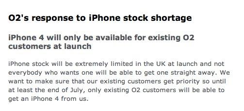 O2 England: iPhone 4 zuerst für Kunden, Neukunden ab August