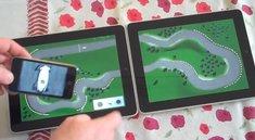 Rennspiel kombiniert bis zu zwei iPads und vier iPhones