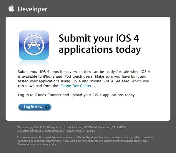 Apple nimmt iOS-4-Apps über iTunes Connect entgegen