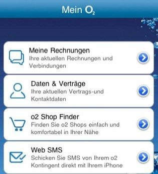"""""""Mein O2""""-App bietet Vertragsübersicht und Web-SMS-Versand für O2-Kunden"""