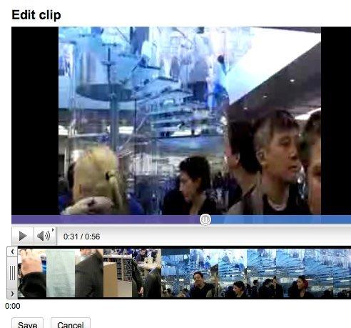 Videobearbeitung in YouTube