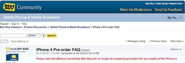 Auch BestBuy stoppt iPhone 4 Vorverkauf