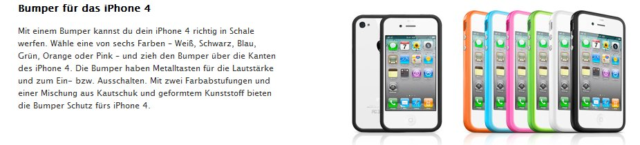 iPhone 4: Bumper - Hüllen