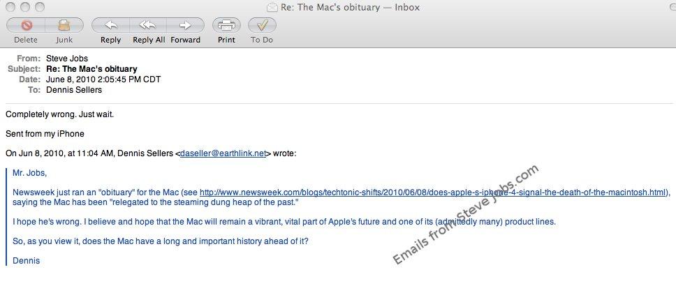 Jobs versichert: Der Mac lebt