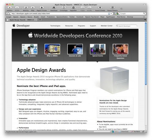 iOS Design Award 2010