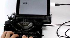 Alte Schreibmaschine wird iPad-Tastatur