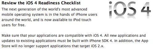 App Store: iOS 2.x Apps nicht mehr erwünscht