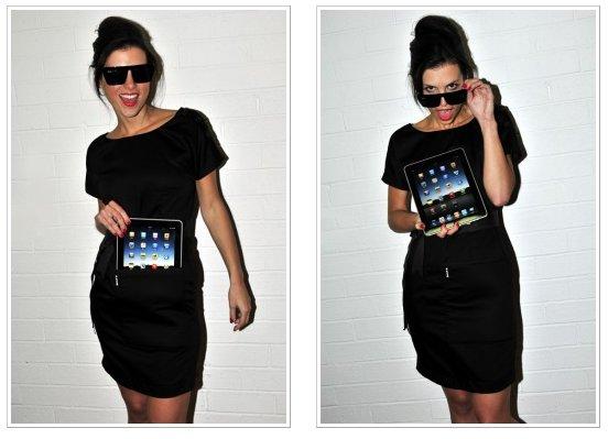 100% iPad kompatibel: Schwarzes Abendkleid von iClothing