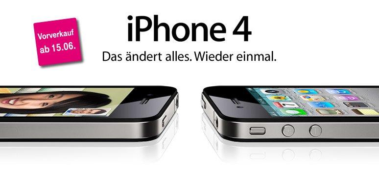 iPhone 4 exklusiv bei T-Mobile Deutschland