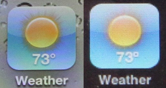 Displayvergleich: iPhone 3GS vs. iPhone 4