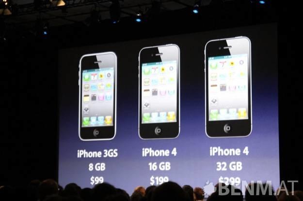 WWDC2010: iPhone 4 Hardware Spezifikationen