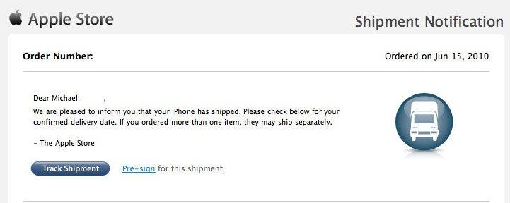 Erste iPhone 4 bereits versandt