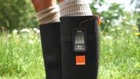 Orange Power Wellies: Gummistiefel produzieren Strom fürs Handy