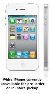 Weißes iPhone derzeit nicht lieferbar