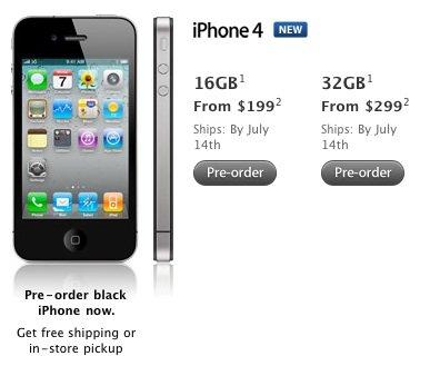 Neuer iPhone 4 Liefertermin (USA)