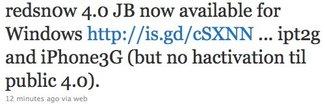 iOS 4 Jailbreak: redsn0w 0.9.5 Beta 5 für Windows