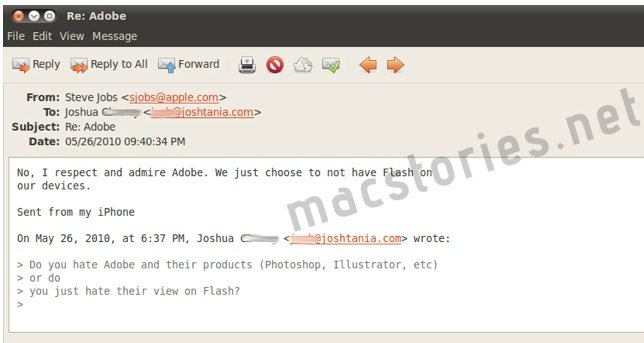 "Jobs: ""I respect and admire Adobe"""