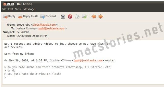 "Jobs: ""I respect and admire Adobe"""