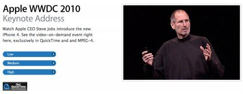 Update: WWDC 2010 Keynote Video Stream verfügbar