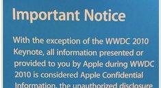 Apple: WWDC Sessions streng geheim