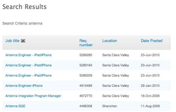 Apple sucht Antennen-Spezialisten