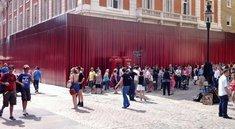 Neuer Apple-Store in London: Bauarbeiten hinter Vorhang