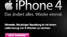 Neun Wochen Lieferzeit für iPhone 4 bei der Telekom