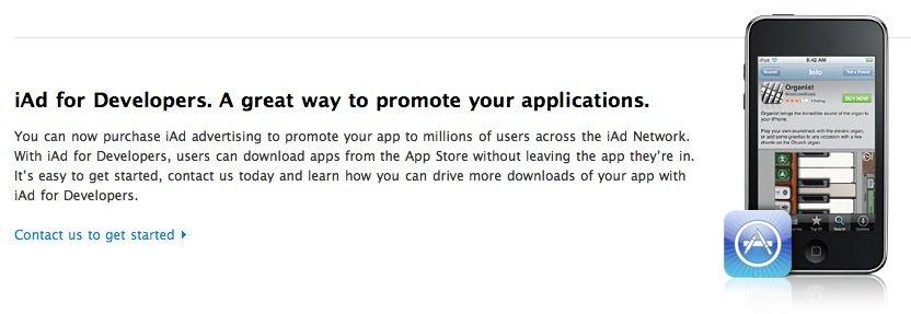 App-Entwickler können eigene iAds schalten