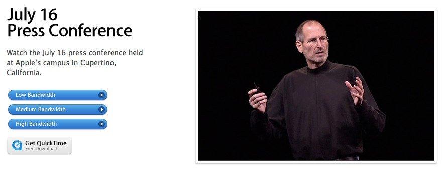 """Apple: PK-Videostream und """"Antennen-Seite"""" online"""