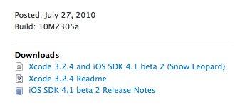iOS Beta 4.1 für Entwickler veröffentlicht