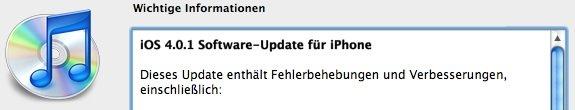 Update: Apple veröffentlicht iOS 4.0.1 für iPhones &amp&#x3B; 3.2.1 für iPads
